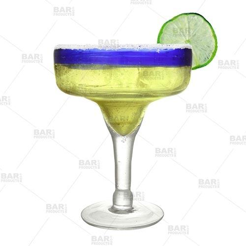 BarConic® Glassware - Blue Rim Margarita Glass - 14 oz