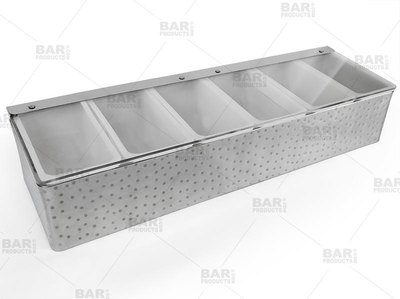 Barconic Hammered Stainless Steel Condiment Holder 6 Pint Bar Supplies