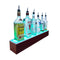 BarConic® LED Liquor Bottle Display Shelf - Mahogany 1 Step - Several Lengths