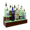 BarConic® LED Liquor Bottle Display Shelf - 2 Steps - Mahogany - Several Lengths