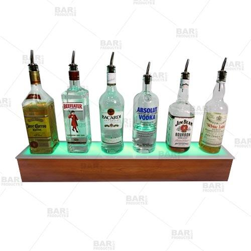 BarConic® LED Liquor Bottle Display Shelf - Wild Cherry 2 Steps - Several Lengths