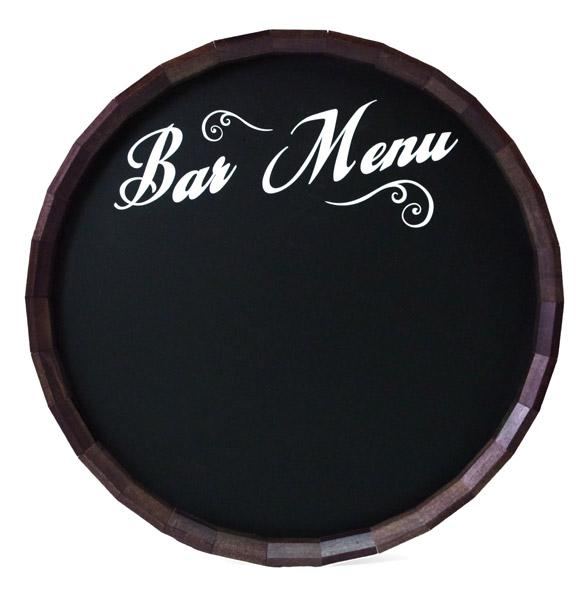 Chalkboard Barrel Top Tavern Signs - Bar & Menu