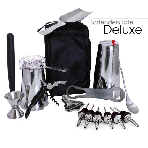 Bartenders Tote – Stainless Steel DELUXE (17pc)