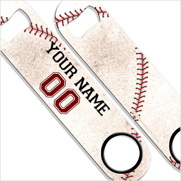 ADD YOUR NAME SPEED Bottle Opener - Baseball