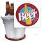 "Beer Bucket Coaster - Retro Ice Cold Beer - 8.75"" Diameter (Reuseable)"