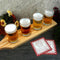 BarConic® Wooden Beer Sampler Paddle - 4 Glass Slots