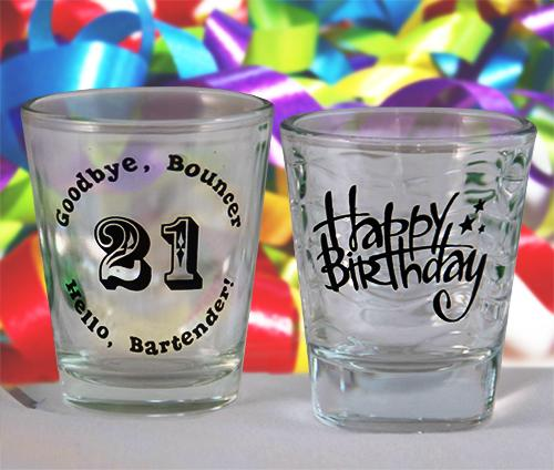 Birthday Themed Shot Glasses