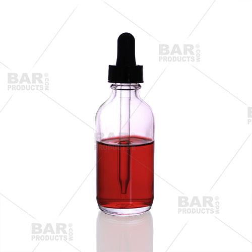 Glass Bitters Dropper Bottle - 2 oz - Clear
