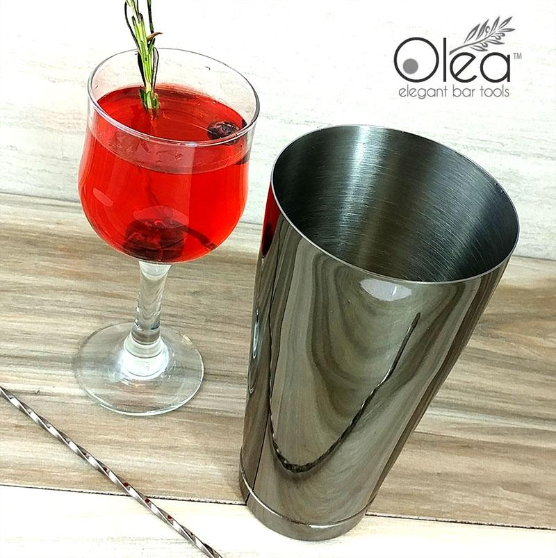 Olea™ Cocktail Shaker - Gunmetal Black - 28oz Weighted
