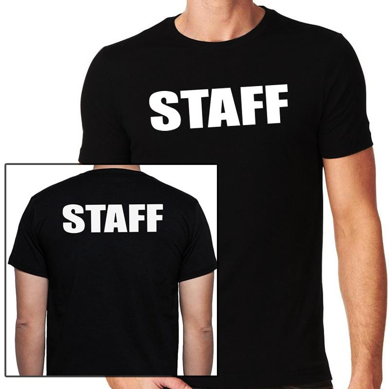 Staff T-Shirt, Full Front & Back