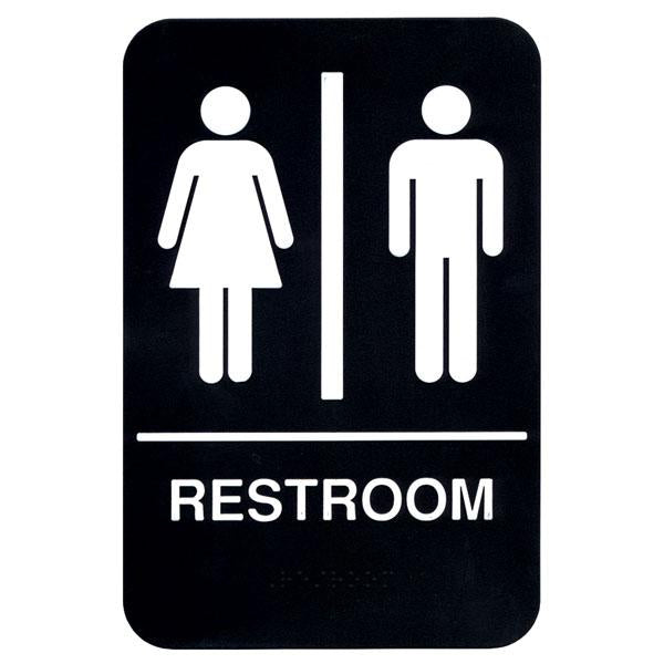 """Restroom"" Braille Signs - 6"" x 9"""