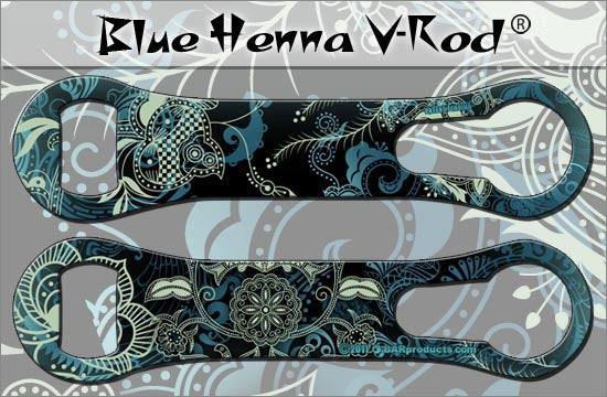 Kolorcoat V-Rod Bottle Opener - Blue Henna