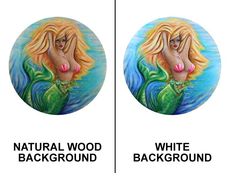 Blonde Mermaid Round Wooden Table Top - Two Sizes Available