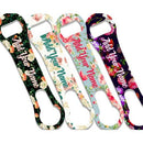 """ADD YOUR NAME"" V-ROD® Bottle Opener – Floral Wallpaper – Several Color Options"
