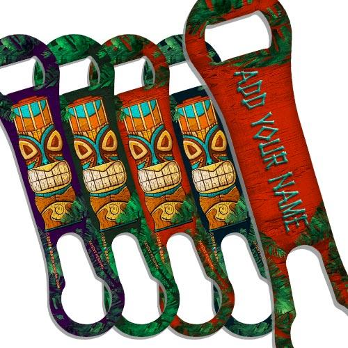 """ADD YOUR NAME"" V-ROD® Bottle Opener – Tiki Idol – Several Color Options"