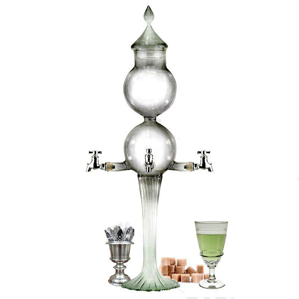 Absinthe Double Globe Fountain - 4 Spout