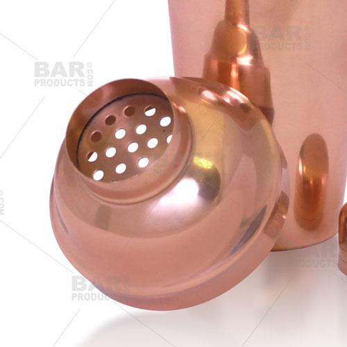 BarConic® 3 Piece Copper Plated Shaker Deluxe Set