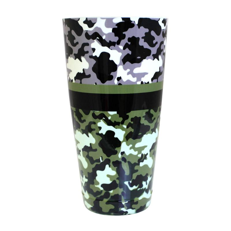 Cocktail Shaker Tin - Printed Designer Series - 28oz weighted - Camouflage
