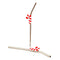 Candy Cane Pendant Straws w/ Brush - Stainless Steel - Set of 2