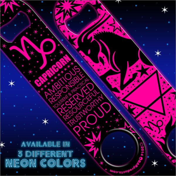 Kolorcoat™ Zodiac Speed Bottle Opener - CAPRICORN - PINK