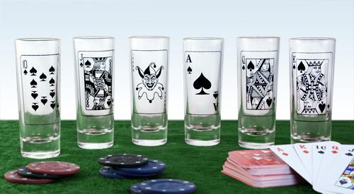Poker Shot Glass Set
