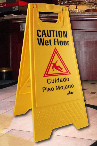Caution Wet Floor Sign - Yellow