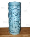 Blue Mermaid Ceramic Tiki Glass