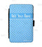 ADD YOUR NAME Guest Check Pad Holder - Blue Polka Dots