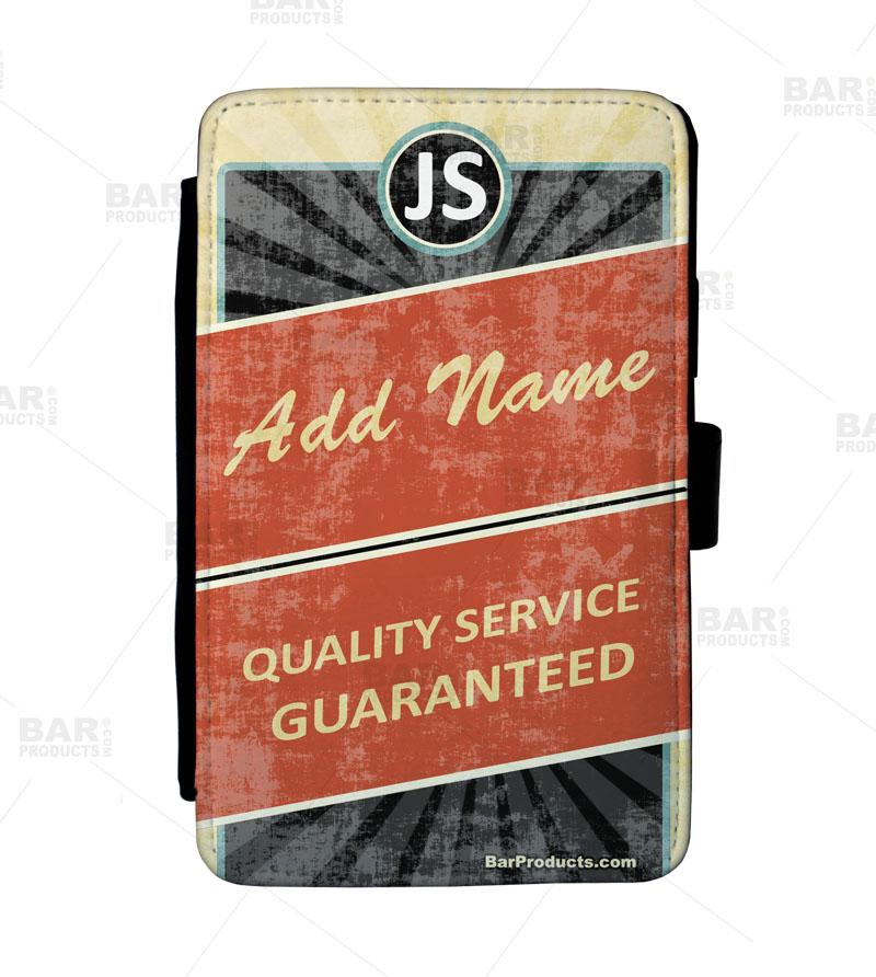 ADD YOUR NAME Guest Check Pad Holder - Retro