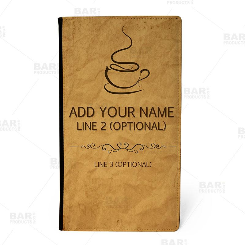 ADD YOUR NAME - Check Presenter - Coffee - FRONT