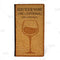Customize - Check Presenter - Wine Cork Design - Front