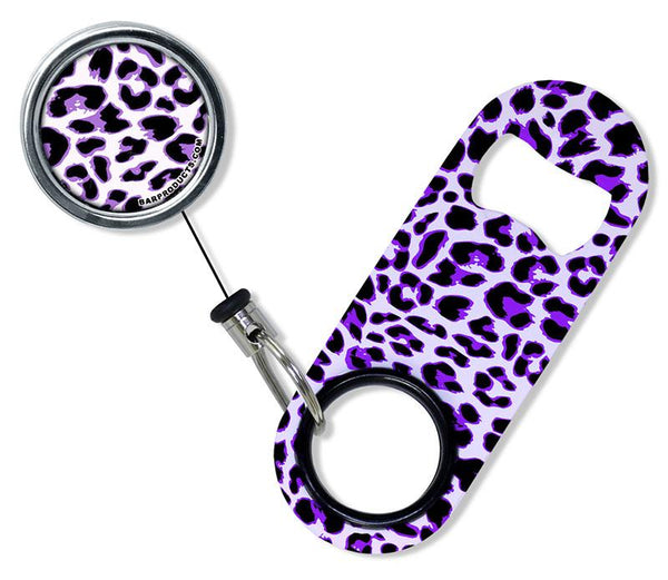 Kolorcoat™ Mini Opener with Retractable Reel  - Purple Cheetah