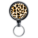 Kolorcoat™ Mini Bottle Opener with Retractable Reel - Orange Cheetah