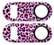 Kolorcoat™ Mini Bottle Opener - Pink  Cheetah