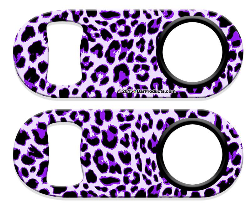 Kolorcoat™ Mini Bottle Opener - Purple Cheetah