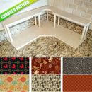 CHOOSE YOUR PATTERN - Counter Caddies™ - Corner Unit w/ Trash Can Inset