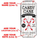 CUSTOMIZABLE Wood Christmas Sign - Candy Cane Factory