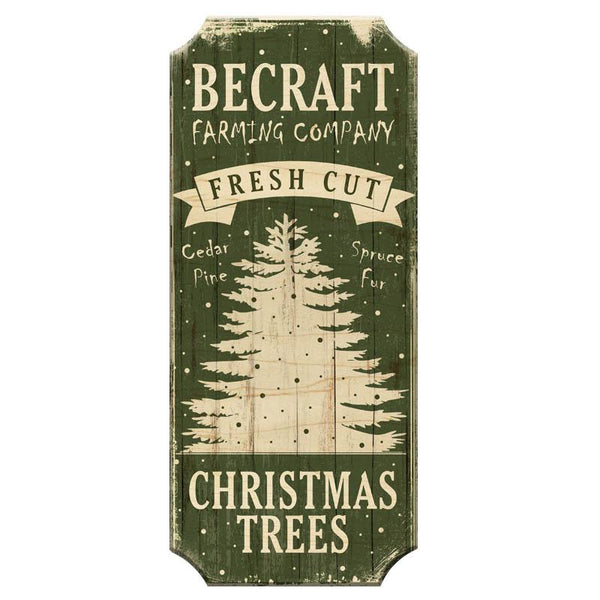 Fresh Cut Trees - CUSTOMIZABLE Wood Christmas Sign