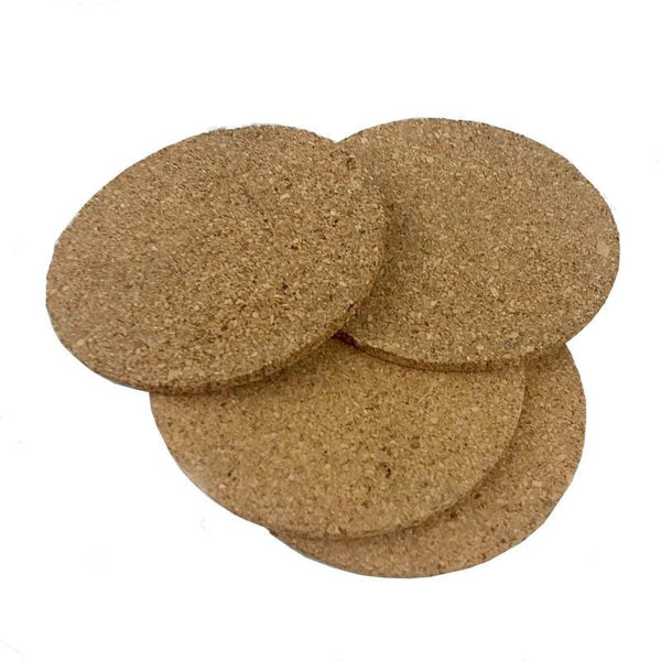 Cork Coasters - 4 inch - Pack of 4