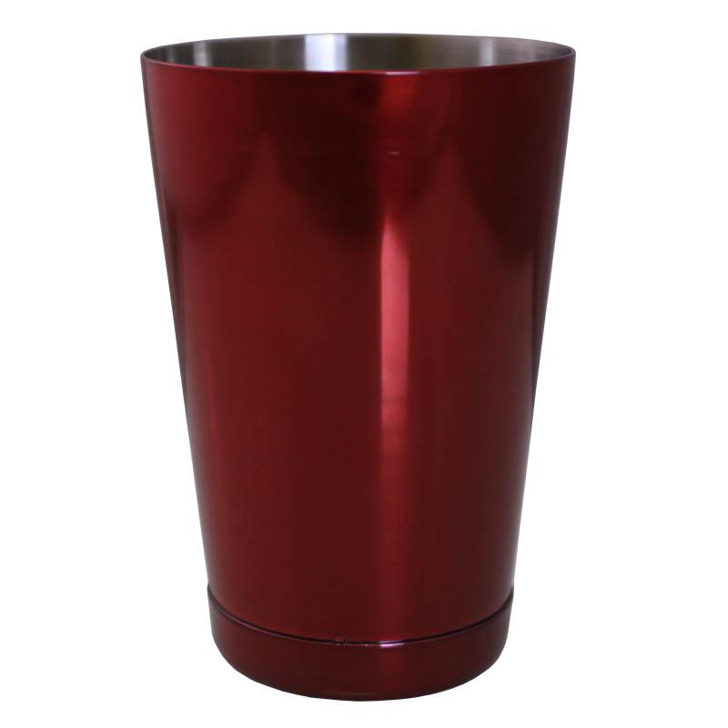 18 ounce candy red cocktail shaker tin