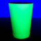 neon yellow 18 ounce shaker glows under a black light