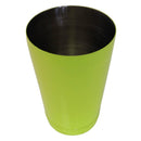 Neon yellow 18 ounce cocktail shaker tin rim