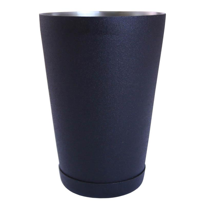18 ounce black textured cocktail shaker tin