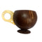 BarConic Real Coconut Cup with Handle - 14 ounces