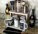 "Counter Caddies™ - NATURAL - 12"" STRAIGHT Shelf - Barista Theme"
