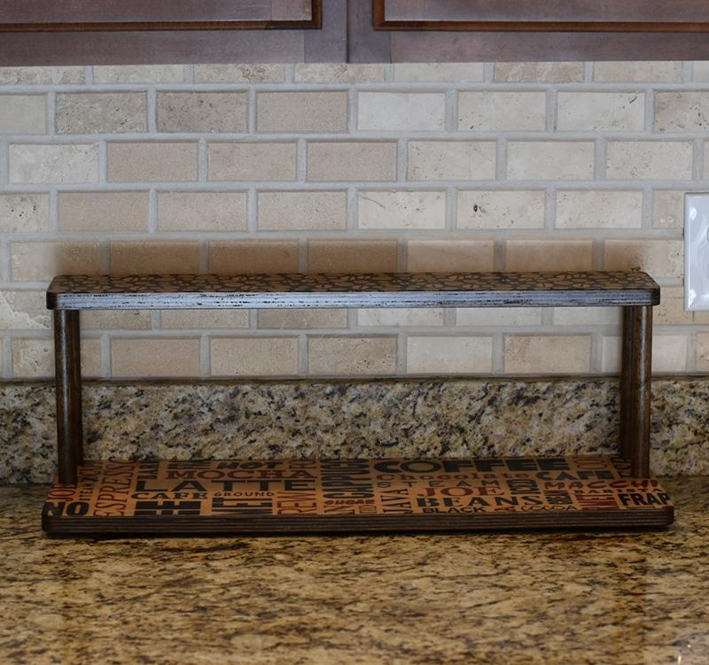 "Counter Caddies™ - BARISTA Theme - 24"" STRAIGHT Shelf"