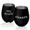 Stemless Stainless Steel Wine Glass - Matte Black - 17 oz.
