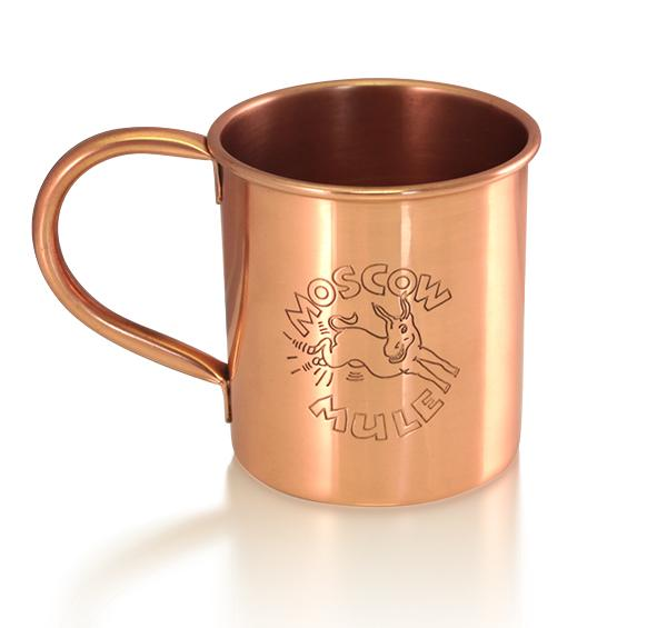 100% Copper Moscow Mule Mug - with Logo