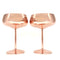 Coupe Cocktail Goblets - Copper Plated - SET OF 2 (10 ounce)
