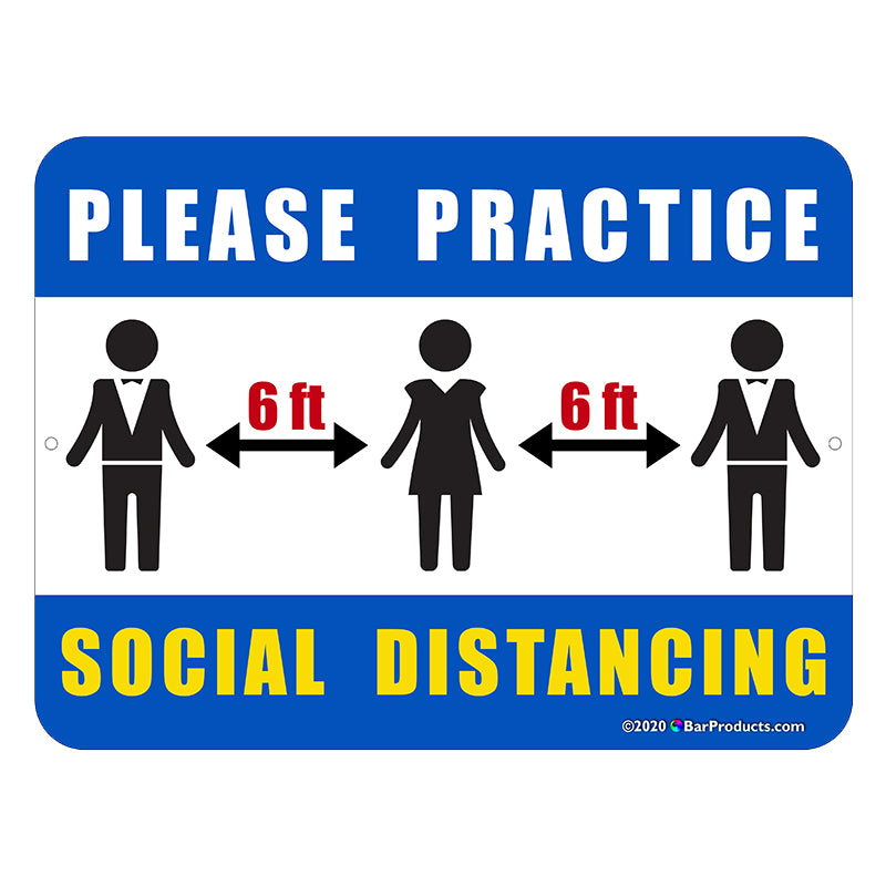 Kolorcoat™ Compliance Signs - Social Distancing (Options)